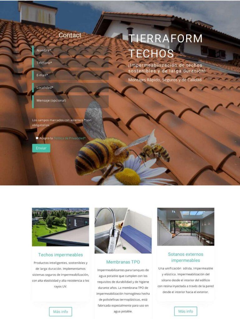 tierraform techos